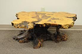 burl wood coffee table an original star dust burlwood co california redwood free form