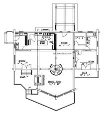 Floor Plan Spiral Staircase Freeland Creek A Frame Log Home Plan 088d 0002 House Plans And More