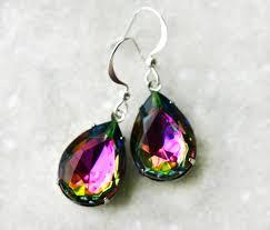 topaz earrings topaz earrings rainbow vitrail teardrops