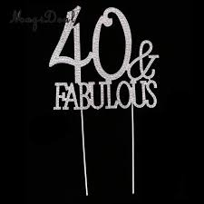 40 cake topper online shop glitter 40 fabulous cake topper rhinestone