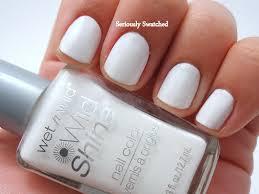 wet u0027n u0027 wild wild shine french white creme cull nail polish