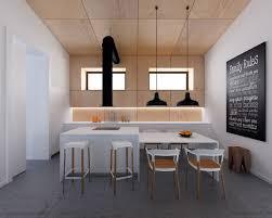 faux plafond cuisine design design interieur cuisine bois et blanc faux plafond bois
