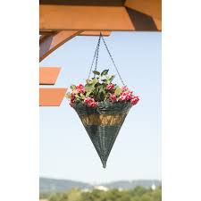 decoration interesting resin wicker hanging planter baskets hand