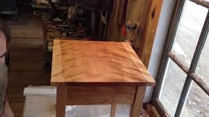 Shaker End Table Finishing Shaker End Table Custom Vermont Furniture From Hawk