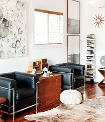 mixing mid century modern and rustic interior rustic mid century modern home wooden trunks mid