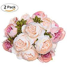 artificial peonies luyue vintage artificial peony silk flowers bouquet