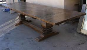 salvaged wood dining room tables table trestle table reclaimed wood midcentury expansive trestle