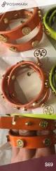 nwt tory burch foundation wrap bracelet orange color blood orange