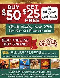 black friday deals on gift cards tiff u0027s deals nola and national savings black friday copelands