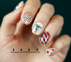 simple christmas nail art designs simple easy christmas nail art
