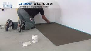 lux elements installation flush with the floor shower bases tub lux elements installation flush with the floor shower bases tub for the substitution of bathtubs