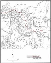 Montana County Map by The Bridger Trail A Safer Route To Montana Gold Wyohistory Org