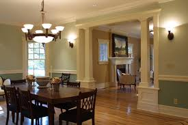 Upper Montclair NJ New Home Craftsman Colonial Traditional - Colonial dining rooms