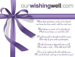 wedding money registry ourwishingwell online gift registry and wishing well