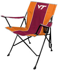amazon com ncaa portable folding tailgate chair with cup holder