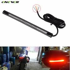 led strip lights for motorcycles universal flexible led motorcycle brake lights turn signal light