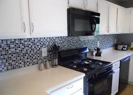 lowes backsplash tiles distressed wood cabinets dark grey granite