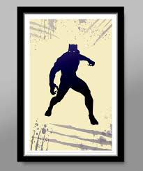 black panther avengers minimalist movie poster home decor
