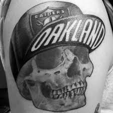 raiders skull tattoos oakland raiders skull tattoo on back in