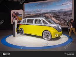 volkswagen concept van detroit mi usa january 10 2017 a volkswagen i d buzz concept