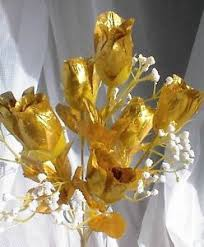 50th anniversary centerpieces 84 gold silk roses buds wedding bouquet flowers 50th anniversary