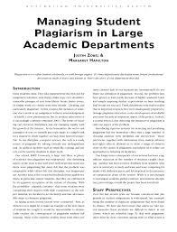 managing student plagiarism large academic departments pdf