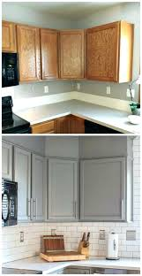 Before And After Kitchen Cabinet Painting Spray Paint Kitchen Cabinets Cabinet Best Before After Kitchen