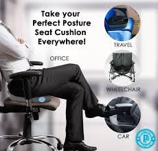 amazon com perfect posture memory foam seat cushion neverflat