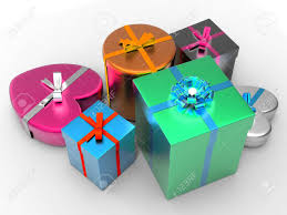 giftboxes celebration meaning cheerful and package stock photo