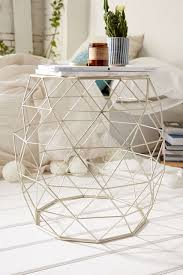 decor trends to try in your first college home urban outfitters geometric metal side table