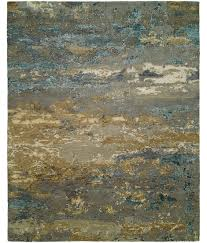 Discontinued Rugs Rosewood Collection Design Ro 1427 Light Blue Gold Hri