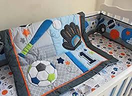 Baby Boy Sports Crib Bedding Sets F C L 6 Pieces Baby Boy Sport Crib Bedding Set Baby