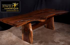 Telescoping Dining Table by Acacia Natural Wood Live Edge Table Stainless Steel Square Legs