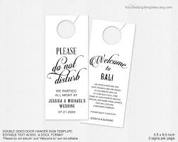 wedding door hanger template decor wedding door hanger template 2380115 weddbook