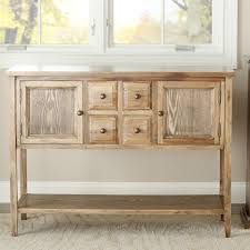 oak wood finish dining room sideboard buffet console table cabinet