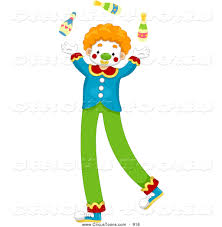 clown stilts circus clipart of a smiling juggling circus clown on stilts by bnp