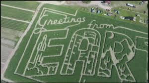 farm in sunderland unveils space themed corn field maze youtube