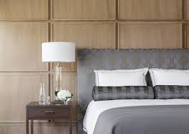 wood paneling modern this bedroom uses square wood panels to create a modern accent wall
