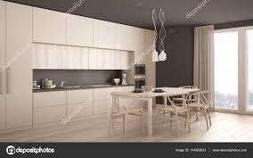 cuisine blanche classique cuisine blanche minime moderne avec sol en bois intérieur classique