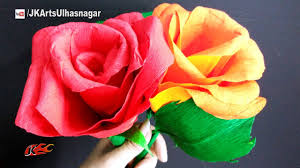 Paper Rose Topiary - how to make giant crepe paper rose flower diy valentine u0027s day