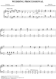 wedding processional wedding processional sheet for piano and more