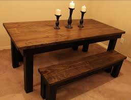 Distressed Black Dining Room Table Distressed Dining Table To Add Beauty For Dining Room With Wood