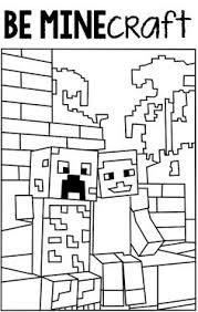 pin printable free minecraft printable coloring pages