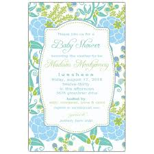 blue green garden baby shower invitations paperstyle