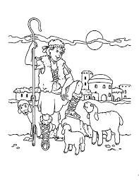 david shepherd boy coloring pages coloring