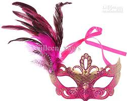 party mask high quality festive feather mask for kids christmas
