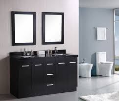 decorative black framed mirror for bathroom mixed white marble