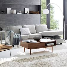 Henry Sleeper Sofa Reviews Henry 2 Piece Pull Down Full Sleeper Sectional W Storage West Elm