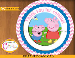 instant download peppa pig favor tags sticker party tags