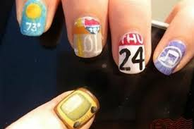 diy nail art iphone app inspired manicure photos huffpost